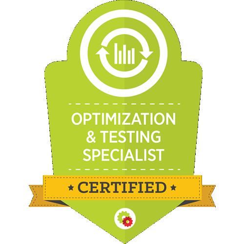 Digital Marketer - Optimization & Testing Specialist Certification